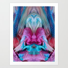 205 Pink and Blue Confection Art Print