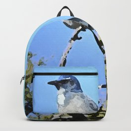 Blue Bird In Paradise Backpack