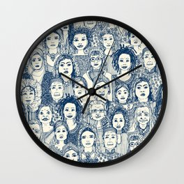 WOMEN OF THE WORLD BLUE Wall Clock
