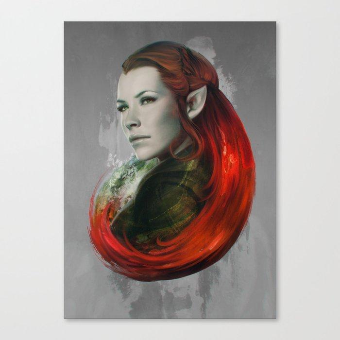 Head of Elven Canvas Print