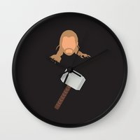 thor Wall Clocks featuring thor by Live It Up