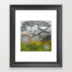 Ginkos in the Rain Framed Art Print