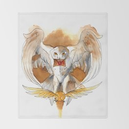 Potter Hedwig Owl Throw Blanket
