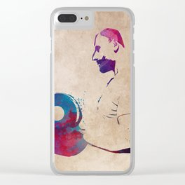 Weightlifting sport art #weightlifting #sport Clear iPhone Case