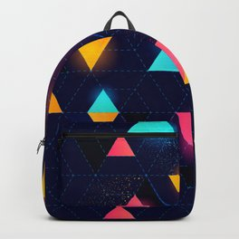 Glowing Neon Triangles Backpack