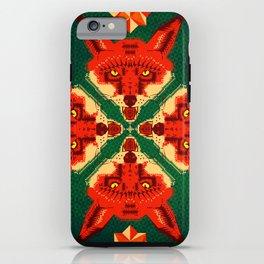 Fox Cross geometric pattern iPhone Case