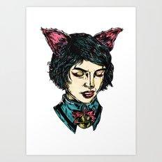 Cat Girl - I think I have Super Powers Art Print
