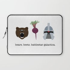 BEARS. BEETS. BATTLESTAR GALACTICA. Laptop Sleeve