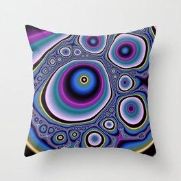 abstract cirles Throw Pillow