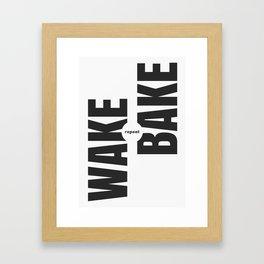 Wake Bake Repeat Framed Art Print