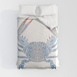 Tribal Blue Crab Comforters
