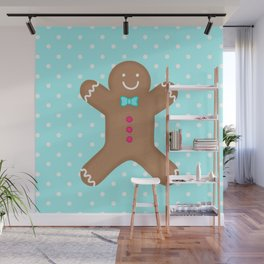 Yummy Gingerbread Man Cookie Wall Mural