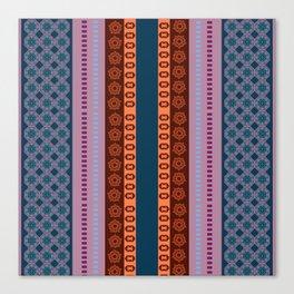 Ethnic Andean Peruvian Textile Pattern Canvas Print