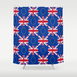 Mix of flag : UE and UK Shower Curtain