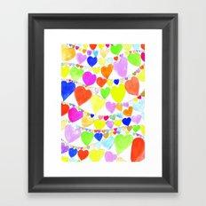 garlands of hearts  Framed Art Print
