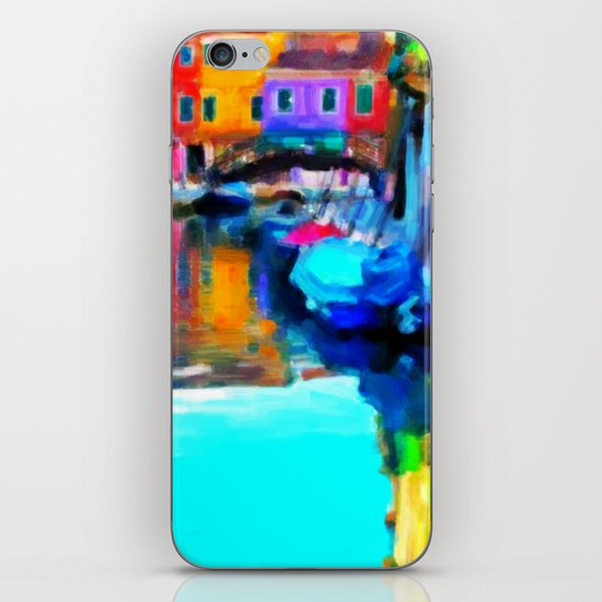 Colors In Venice - Painting Style iPhone & iPod Skin