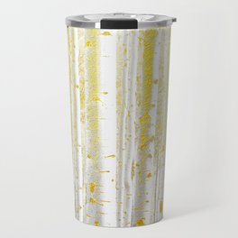 Gold Birch Forest Travel Mug