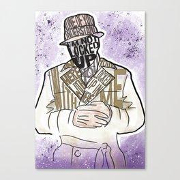 Who watches Rorschach? Canvas Print