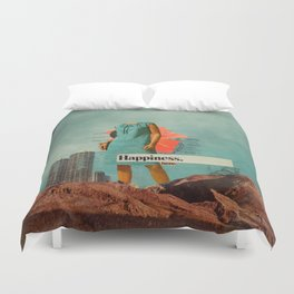 Happiness Here Duvet Cover