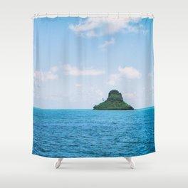 Mokolii Island Straight Ahead Shower Curtain