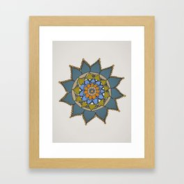 Mandala by Motilal Framed Art Print