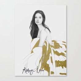 Adriana Lima Canvas Print
