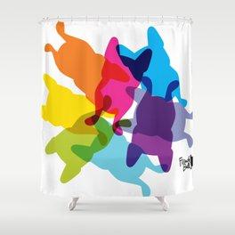 Happy CMYK Shower Curtain