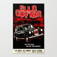 regular show Canvas Prints featuring Ello Gov'nor! Regular Show by Mark Welser