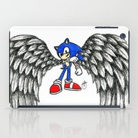 sonic iPad Cases featuring Sonic Angel by Hollie B