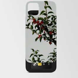 Snow-Kissed Holly iPhone Card Case