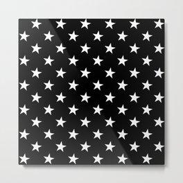 Little Stars (White & Black Pattern) Metal Print