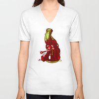 drink V-neck T-shirts featuring Cold Drink by Artistic Dyslexia