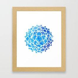 Sahasrara blue Framed Art Print