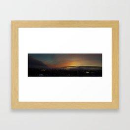 City at Twilight Framed Art Print