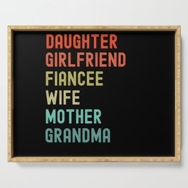 Daughter Girlfriend Fiancee Wife Mother Serving Tray