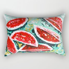 watermelon acrylic art Rectangular Pillow
