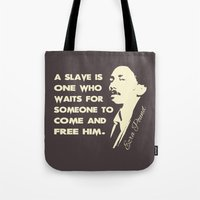 ezra koenig Tote Bags featuring Ezra Pound (Gray) by Patterns of Life