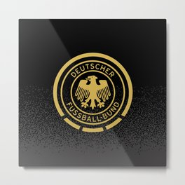 GERMANY Gold Champions Metal Print