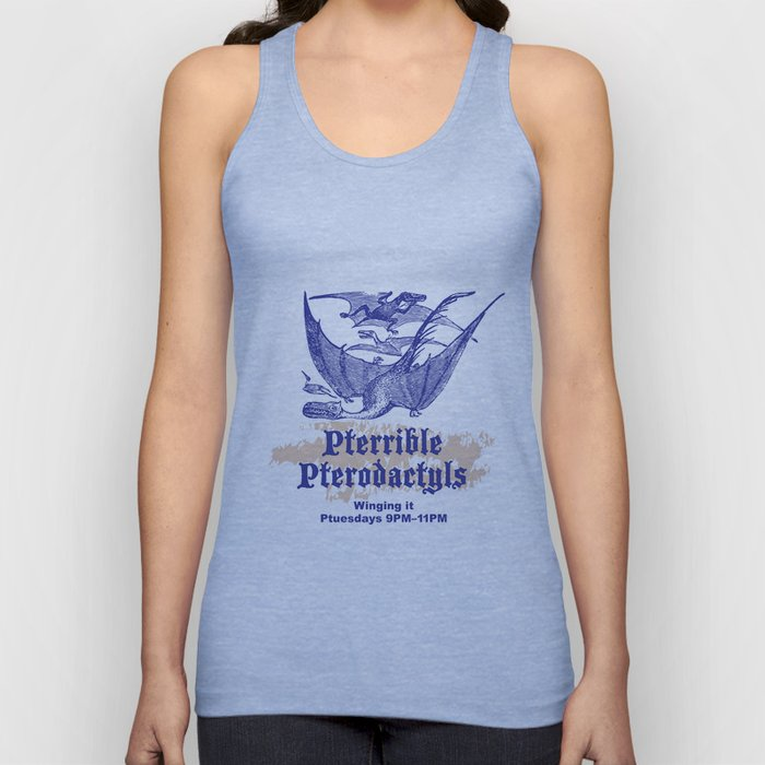 Pterrible Pterodactyls Unisex Tank Top