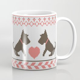 Knitted New Year 2018 retro pattern with dogs Coffee Mug