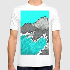 The Rocks And The Sea White X-LARGE Mens Fitted Tee
