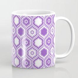 Mid Century Modern Double Quatrefoil - Lavender Purple and White Coffee Mug