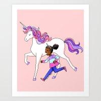 Unicorn Power Art Print