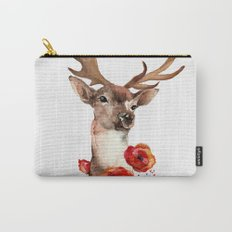 Deer with flowers 2 Carry-All Pouch