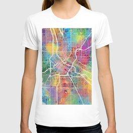 Minneapolis Minnesota City Map T-shirt