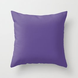 Pantone Ultra Violet 18-3838 Solid Color Throw Pillow