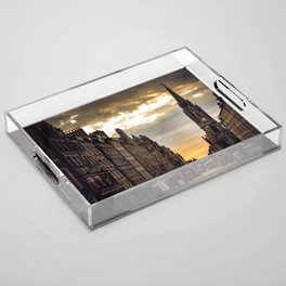 Royal Mile Sunrise in Edinburgh, Scotland Acrylic Tray