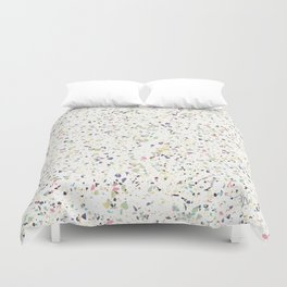 Classy vintage marble terrazzo pastel abstract design Duvet Cover
