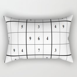Sudoku Series: Medium Level - Mono Rectangular Pillow