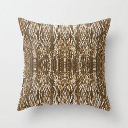 198 - Sepia gold sequins design Throw Pillow